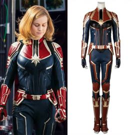 2019 Movie Captain Marvel Cosplay Costume