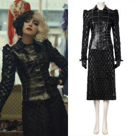 2021 Cruella de Vil Cruella Cosplay Costume Outfit