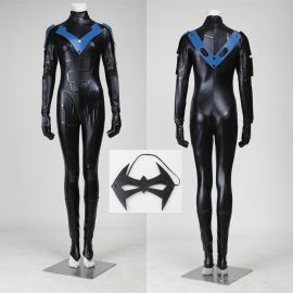 Arkham City Female Nightwing Cosplay Costume