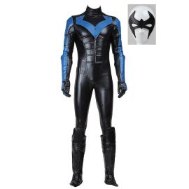 Arkham City Nightwing Cosplay Costume