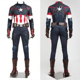 Avengers Age of Ultron Captain America Cosplay Costume Deluxe
