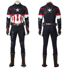 Avengers Age of Ultron Captain America Costume Deluxe Cosplay