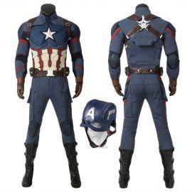 Avengers Endgame Captain America Costume Deluxe Cosplay