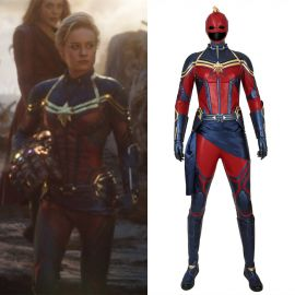Avengers Endgame Captain Marvel Cosplay Costume Deluxe