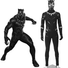 Civil War Black Panther T'Challa Cosplay Costume