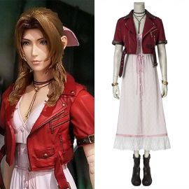 Final Fantasy VII PS4 Game Aerith Gainsborough Cosplay Costume