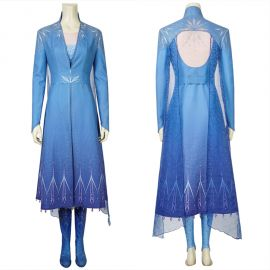 Frozen 2 Elsa Cosplay Costume Deluxe Fancy Dress