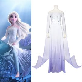 Frozen 2 Elsa Cosplay Dress White Dress