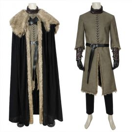 Game of Thrones 8 Jon Snow Cosplay Costume Deluxe Outfit