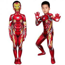 Iron Man Tony Stark Nanotech Suit 3D Kids Jumpsuit