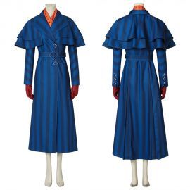 Mary Poppins Returns Mary Poppins Cosplay Costume Blue