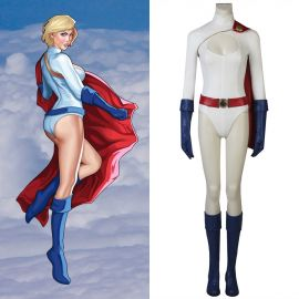 Power Girl Costume Kara Zor-L Cosplay Costume