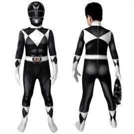 Power Rangers Zack Black Ranger Kids 3D Jumpsuit