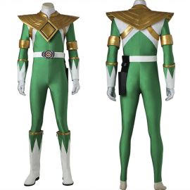 Power Rangers Zyuranger Dragon Green Ranger Cosplay Costume