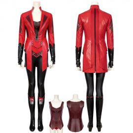 Scarlet Witch Wanda Maximoff Cosplay Costume