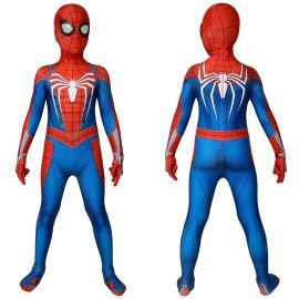 Spider-Man PS4 Spiderman Kids 3D Zentai Jumpsuit