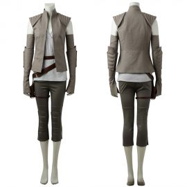 Star Wars The Last Jedi Rey Cosplay Costume Outfit
