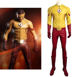The Flash 3 Kid Flash Wally West Cosplay Costume