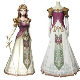 The Legend of Zelda Twilight Princess Zelda Cosplay Costume
