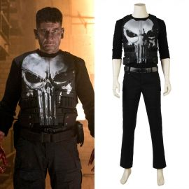 The Punisher Frank Punisher Cosplay Costume