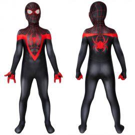 Ultimate Spider-Man PS5 Miles Morales Kids 3D Zentai Jumpsuit
