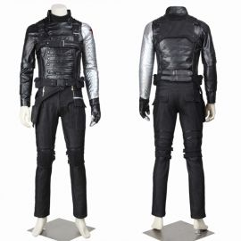 Winter Soldier Cosplay Costume Bucky Barnes Costume Deluxe