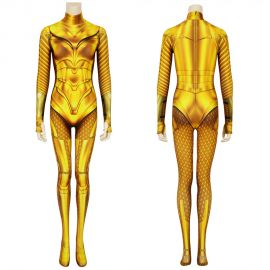 Wonder Woman 1984 Diana Prince Golden 3D Jumpsuit