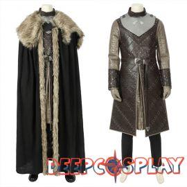 Game of Thrones 8 Jon Snow Cosplay Costume Deluxe